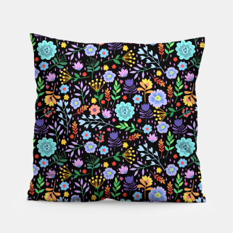 Thumbnail image of Flowerfield Black Pillow, Live Heroes