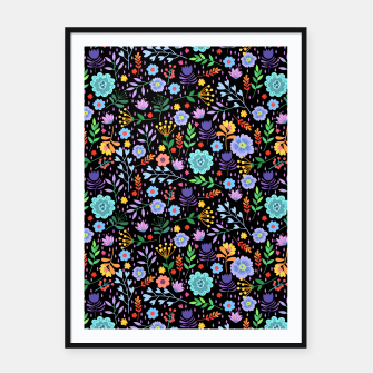 Thumbnail image of Flowerfield Black Framed poster, Live Heroes