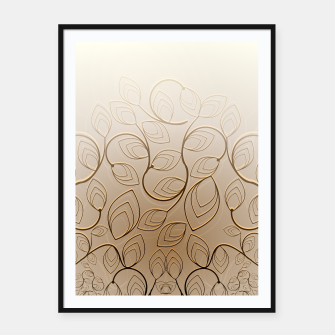 Thumbnail image of Organic Flower Field Framed poster, Live Heroes