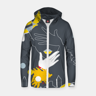 Thumbnail image of Lines Zip up hoodie, Live Heroes