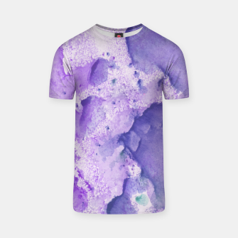 Miniatur Touching Lavender Violet Watercolor Abstract #1 #painting #decor #art T-Shirt, Live Heroes