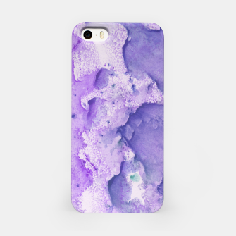 Imagen en miniatura de Touching Lavender Violet Watercolor Abstract #1 #painting #decor #art iPhone-Hülle, Live Heroes