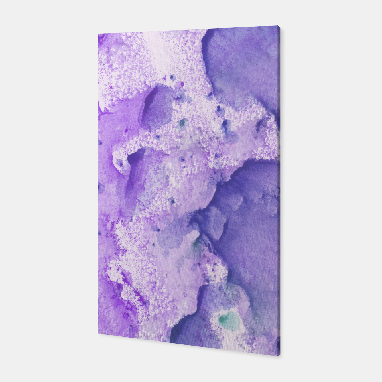 Foto Touching Lavender Violet Watercolor Abstract #1 #painting #decor #art Canvas - Live Heroes