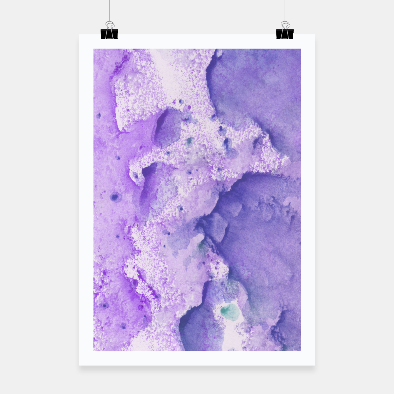 Foto Touching Lavender Violet Watercolor Abstract #1 #painting #decor #art Plakat - Live Heroes