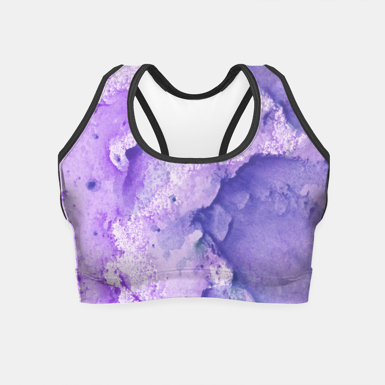 Foto Touching Lavender Violet Watercolor Abstract #1 #painting #decor #art Crop Top - Live Heroes