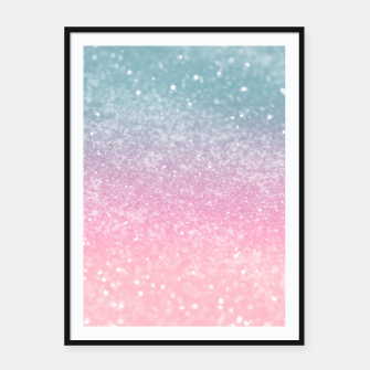 Thumbnail image of Unicorn Princess Glitter #5 (Faux Glitter - Photography) #pastel #decor #art  Plakat mit rahmen, Live Heroes