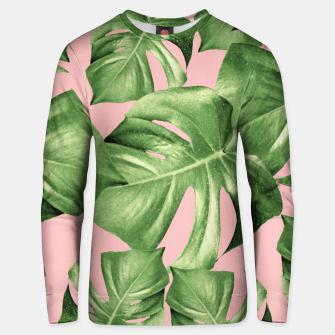 Miniature de image de Monstera Leaves Blush Summer Vibes Pattern #1 #tropical #decor #art  Unisex sweatshirt, Live Heroes