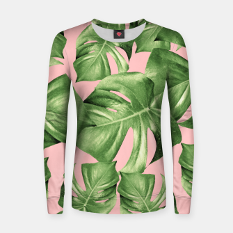 Miniature de image de Monstera Leaves Blush Summer Vibes Pattern #1 #tropical #decor #art  Frauen sweatshirt, Live Heroes