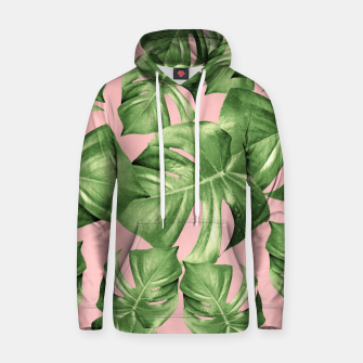Miniature de image de Monstera Leaves Blush Summer Vibes Pattern #1 #tropical #decor #art  Kapuzenpullover, Live Heroes