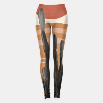 Thumbnail image of Cactus in the Desert #1 #tropical #wall #art Leggings, Live Heroes