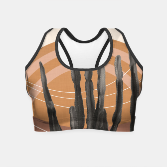 Thumbnail image of Cactus in the Desert #1 #tropical #wall #art Crop Top, Live Heroes