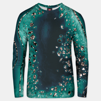 Agate Rose Gold Glitter Glam Night #3 #gem #decor #art  Unisex sweatshirt thumbnail image
