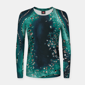Thumbnail image of Agate Rose Gold Glitter Glam Night #3 #gem #decor #art  Frauen sweatshirt, Live Heroes