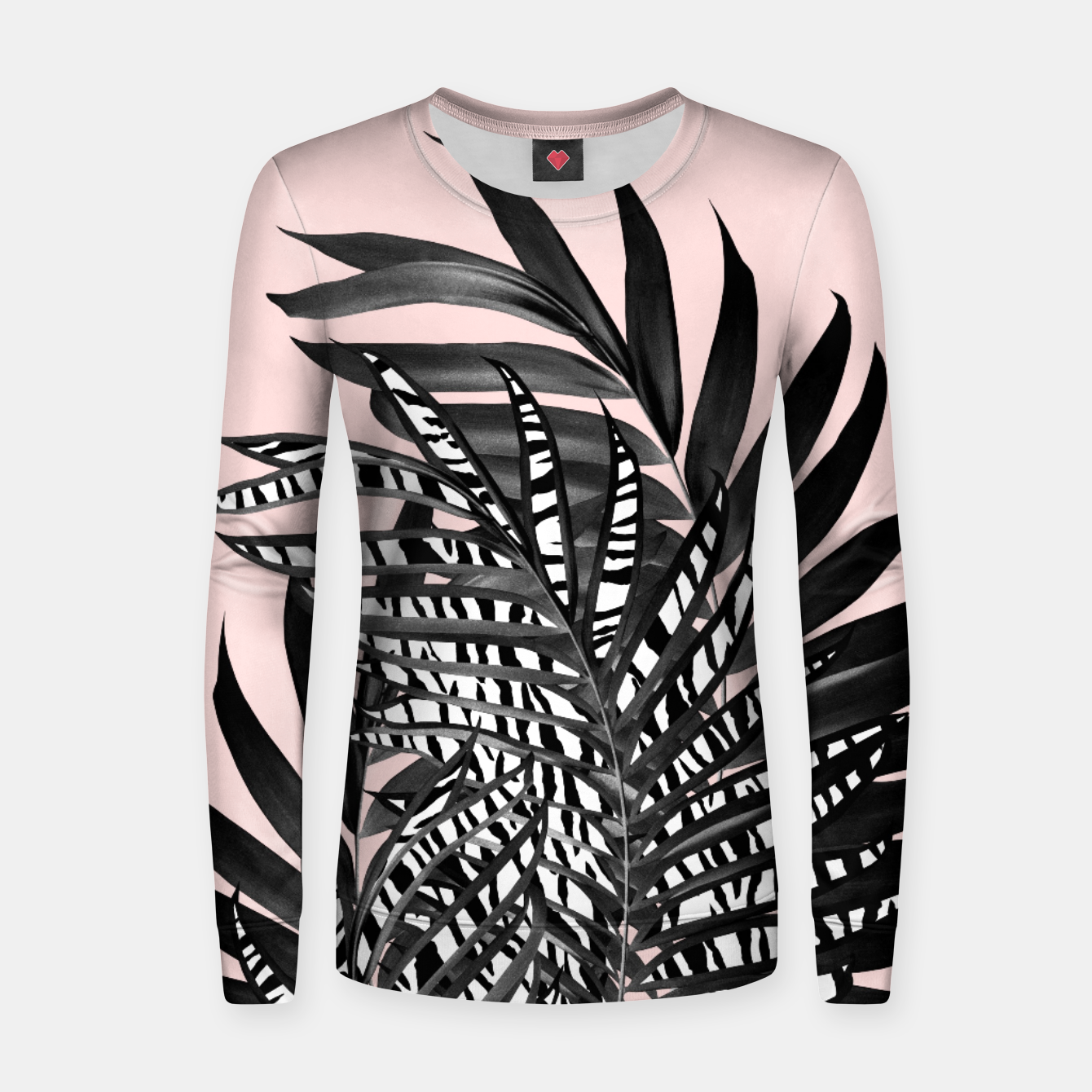 Image of Palm Leaves with Tiger Stripe Glam #2 #tropical #decor #art  Frauen sweatshirt - Live Heroes