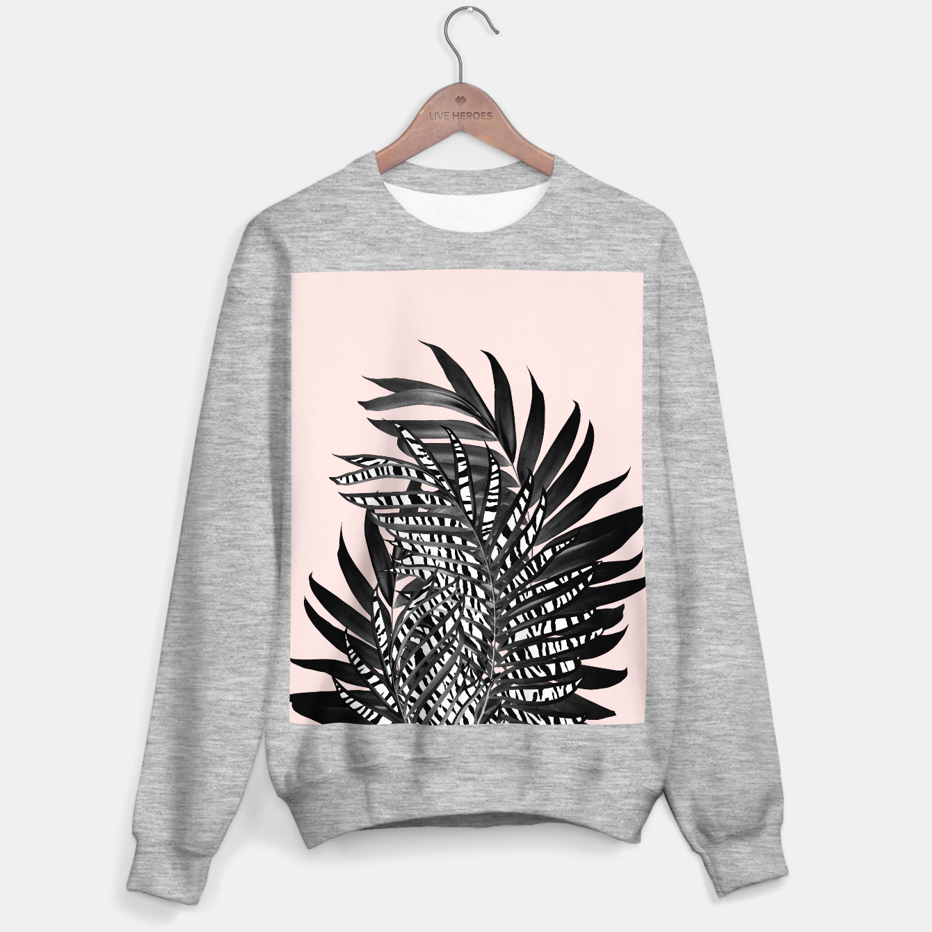 Image of Palm Leaves with Tiger Stripe Glam #2 #tropical #decor #art  Sweatshirt regulär - Live Heroes