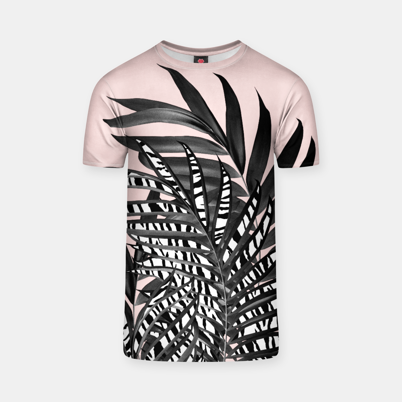 Image of Palm Leaves with Tiger Stripe Glam #2 #tropical #decor #art  T-Shirt - Live Heroes