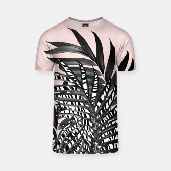 Palm Leaves with Tiger Stripe Glam #2 #tropical #decor #art  T-Shirt thumbnail image