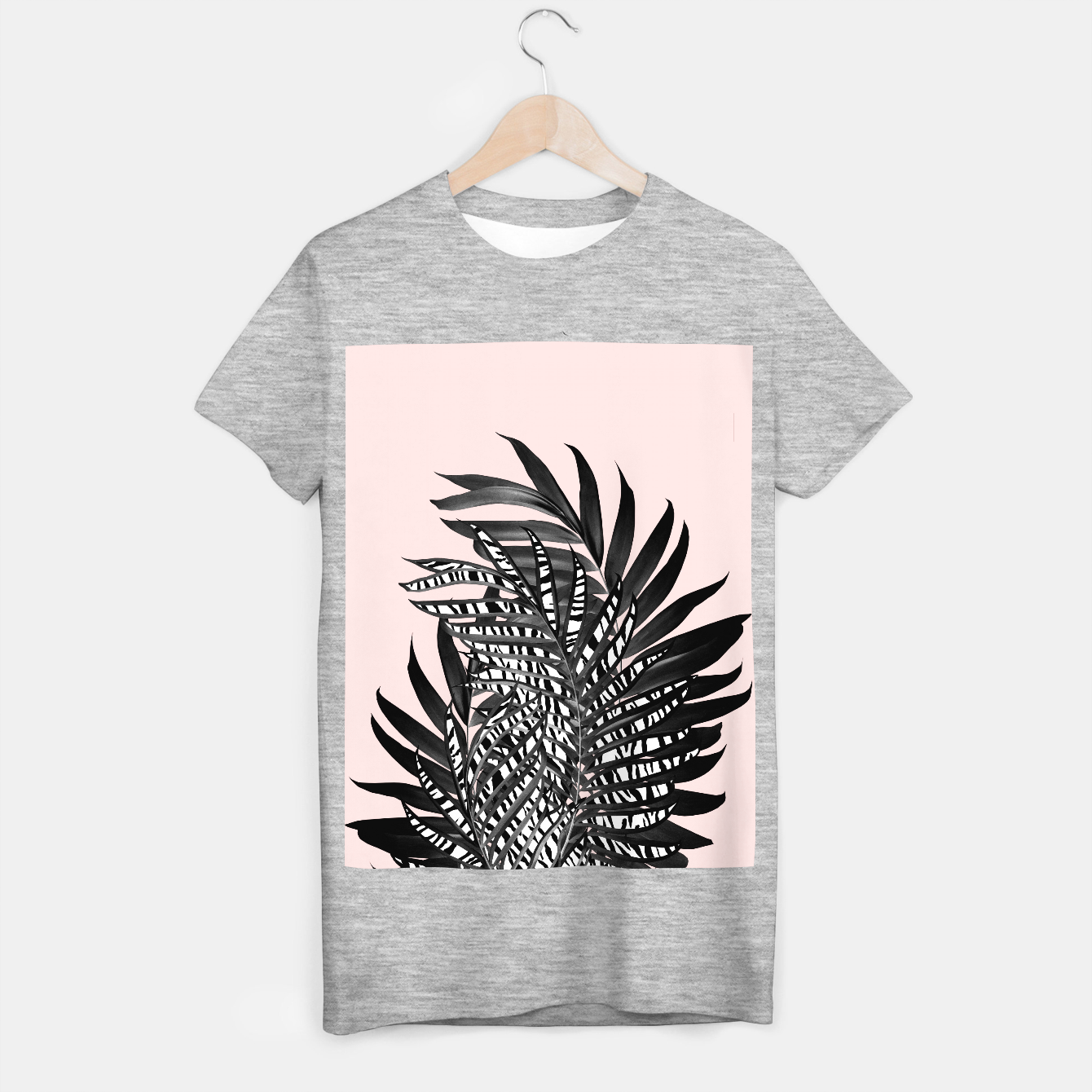 Image of Palm Leaves with Tiger Stripe Glam #2 #tropical #decor #art  T-Shirt regulär - Live Heroes