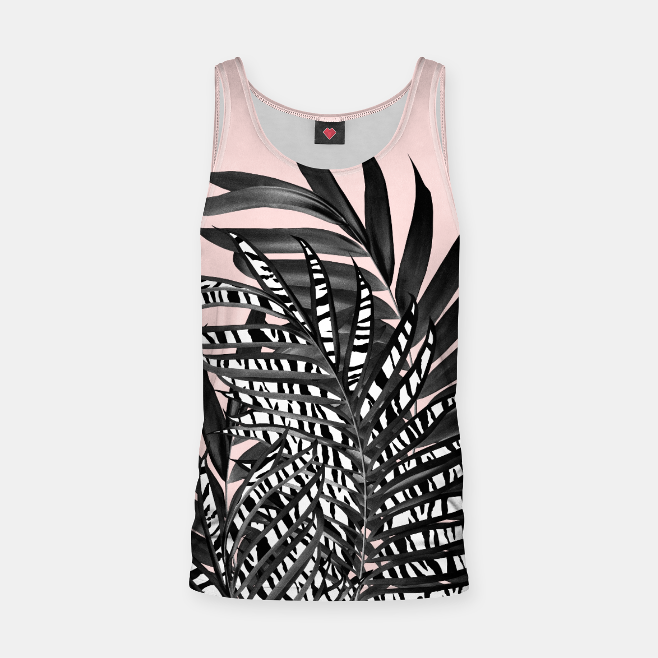 Image of Palm Leaves with Tiger Stripe Glam #2 #tropical #decor #art  Muskelshirt  - Live Heroes