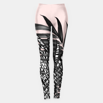 Palm Leaves with Tiger Stripe Glam #2 #tropical #decor #art  Leggings thumbnail image