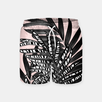 Palm Leaves with Tiger Stripe Glam #2 #tropical #decor #art  Badeshorts thumbnail image
