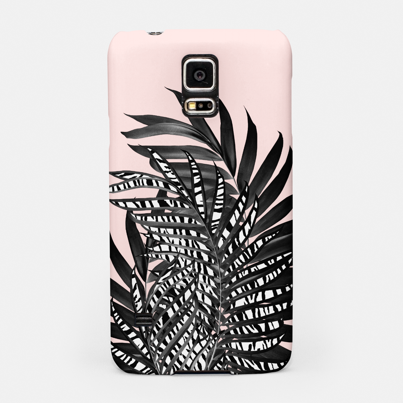 Image of Palm Leaves with Tiger Stripe Glam #2 #tropical #decor #art  Handyhülle für Samsung - Live Heroes