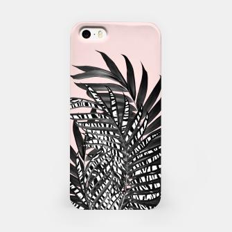 Palm Leaves with Tiger Stripe Glam #2 #tropical #decor #art  iPhone-Hülle thumbnail image