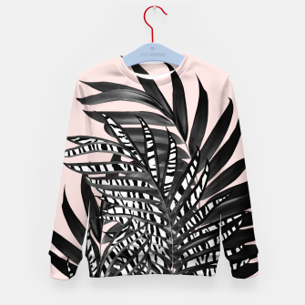 Palm Leaves with Tiger Stripe Glam #2 #tropical #decor #art  Kindersweatshirt thumbnail image