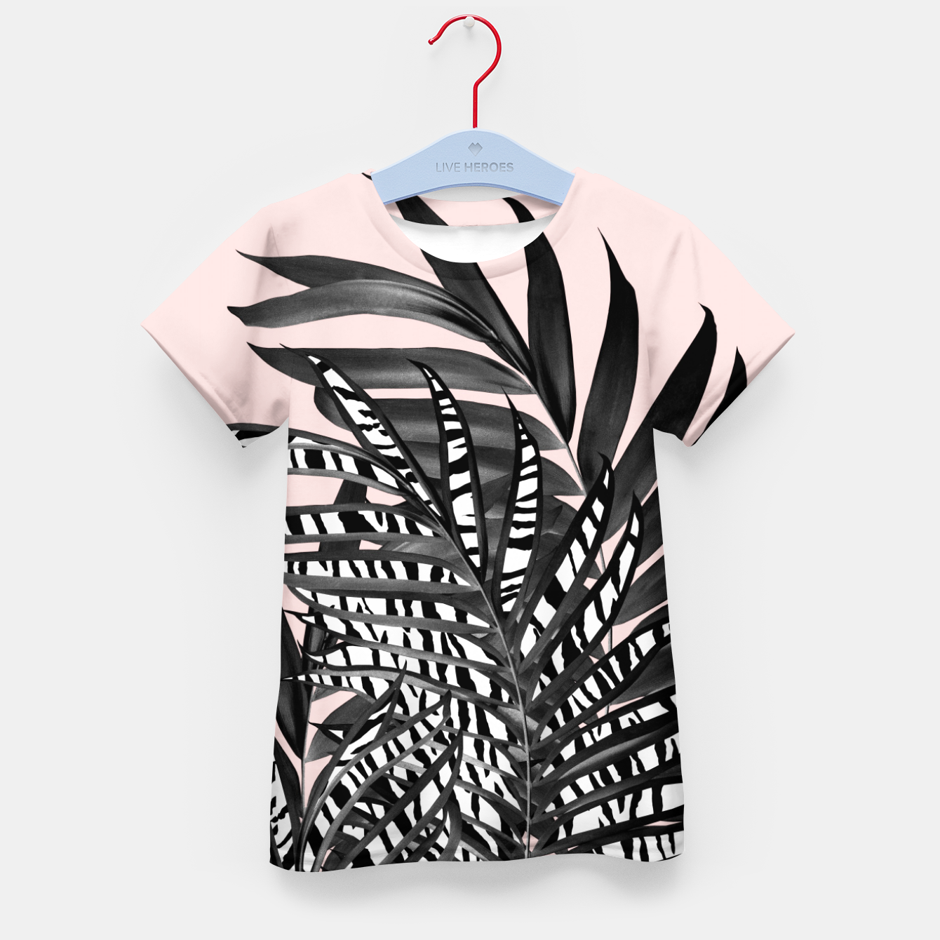 Image of Palm Leaves with Tiger Stripe Glam #2 #tropical #decor #art  T-Shirt für kinder - Live Heroes