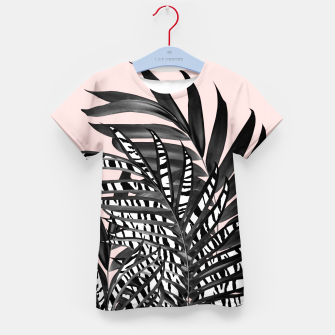 Palm Leaves with Tiger Stripe Glam #2 #tropical #decor #art  T-Shirt für kinder thumbnail image