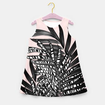 Thumbnail image of Palm Leaves with Tiger Stripe Glam #2 #tropical #decor #art  Mädchen-Sommerkleid, Live Heroes