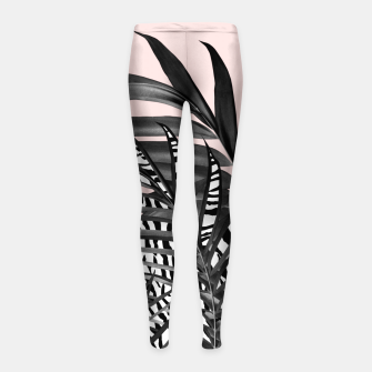 Thumbnail image of Palm Leaves with Tiger Stripe Glam #2 #tropical #decor #art  Kinder-Leggins, Live Heroes