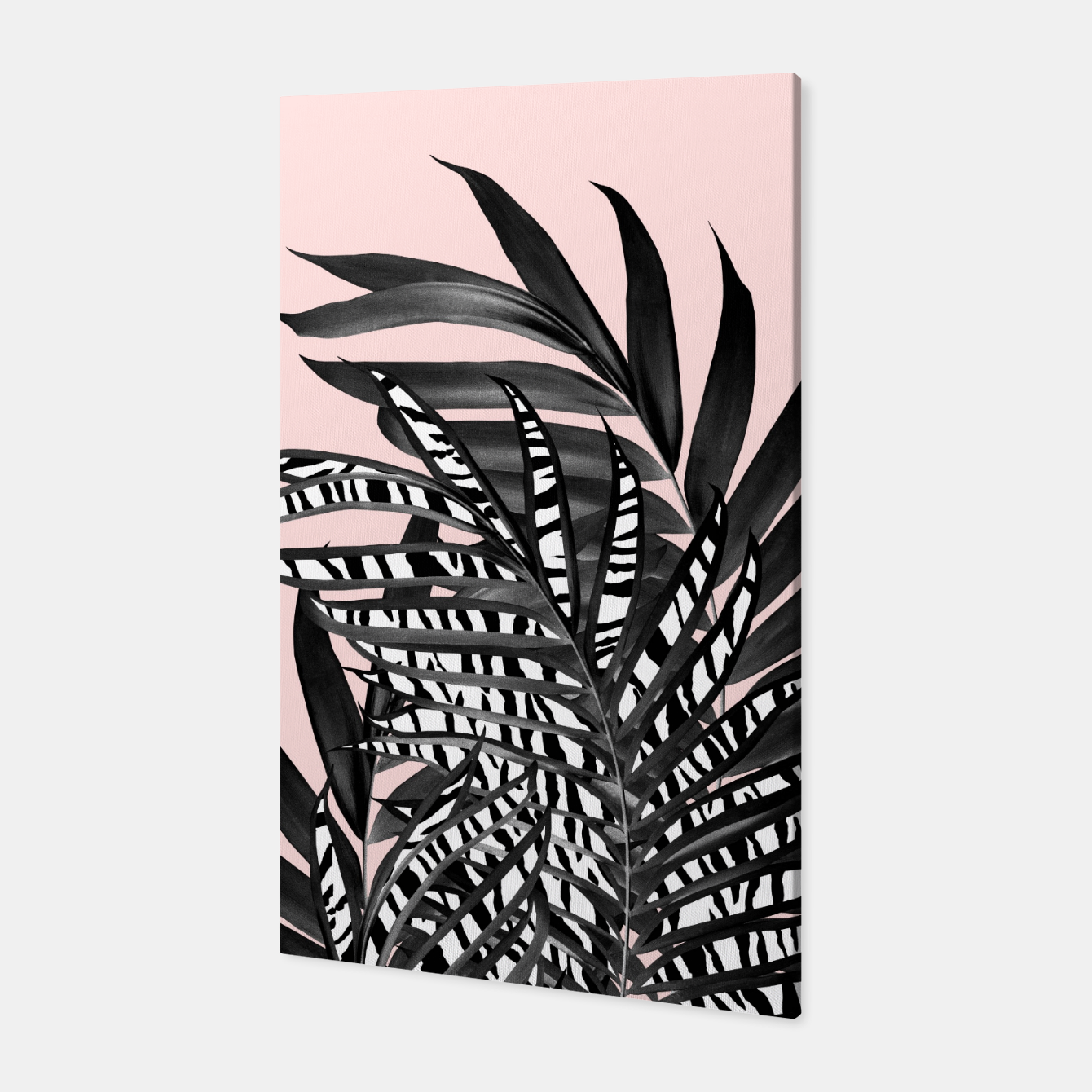 Image of Palm Leaves with Tiger Stripe Glam #2 #tropical #decor #art  Canvas - Live Heroes
