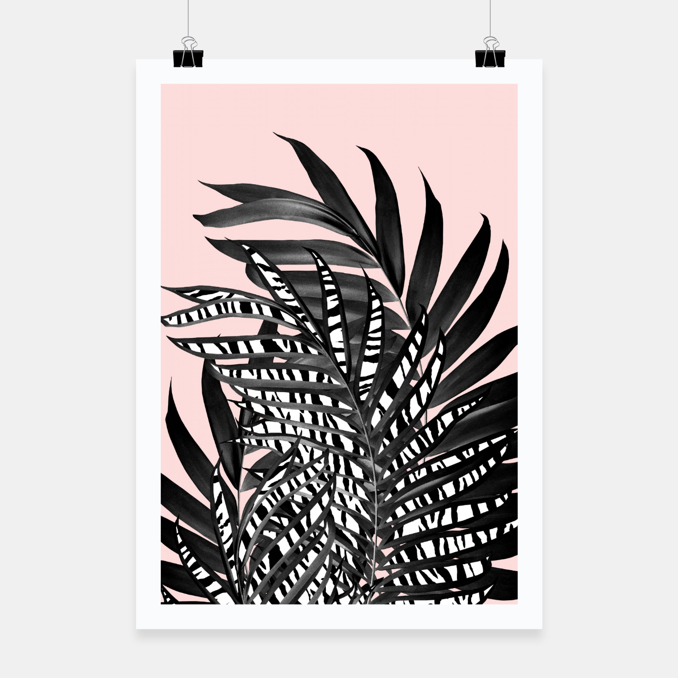 Image of Palm Leaves with Tiger Stripe Glam #2 #tropical #decor #art  Plakat - Live Heroes