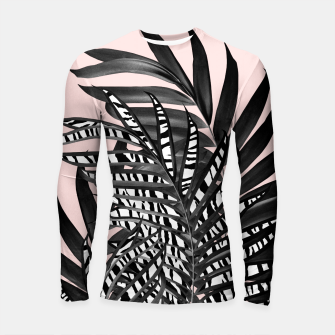 Palm Leaves with Tiger Stripe Glam #2 #tropical #decor #art  Longsleeve rashguard thumbnail image