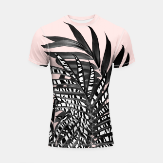 Thumbnail image of Palm Leaves with Tiger Stripe Glam #2 #tropical #decor #art  Shortsleeve rashguard, Live Heroes