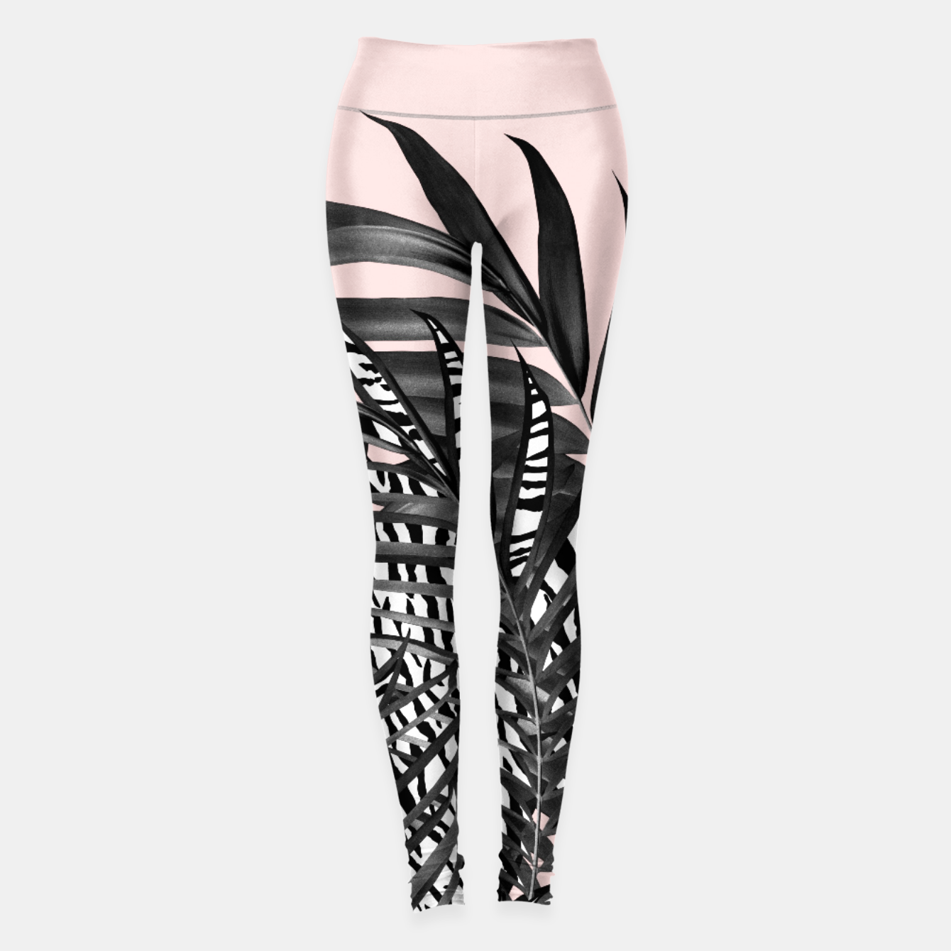 Image of Palm Leaves with Tiger Stripe Glam #2 #tropical #decor #art  Leggings - Live Heroes