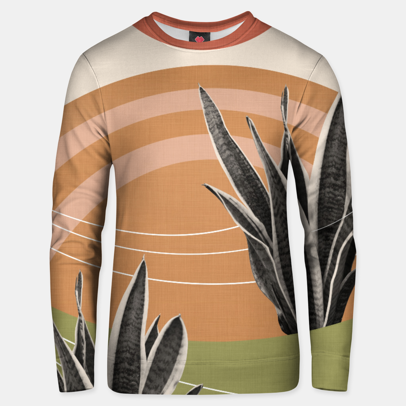Image of Snake Plant in the Desert #1 #tropical #wall #art  Unisex sweatshirt - Live Heroes