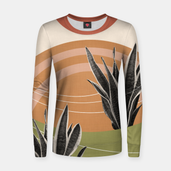 Thumbnail image of Snake Plant in the Desert #1 #tropical #wall #art  Frauen sweatshirt, Live Heroes