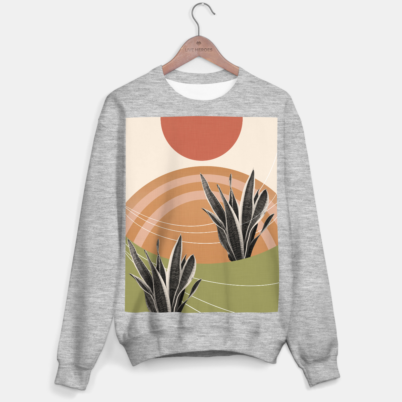 Image of Snake Plant in the Desert #1 #tropical #wall #art  Sweatshirt regulär - Live Heroes