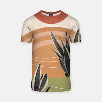 Thumbnail image of Snake Plant in the Desert #1 #tropical #wall #art  T-Shirt, Live Heroes