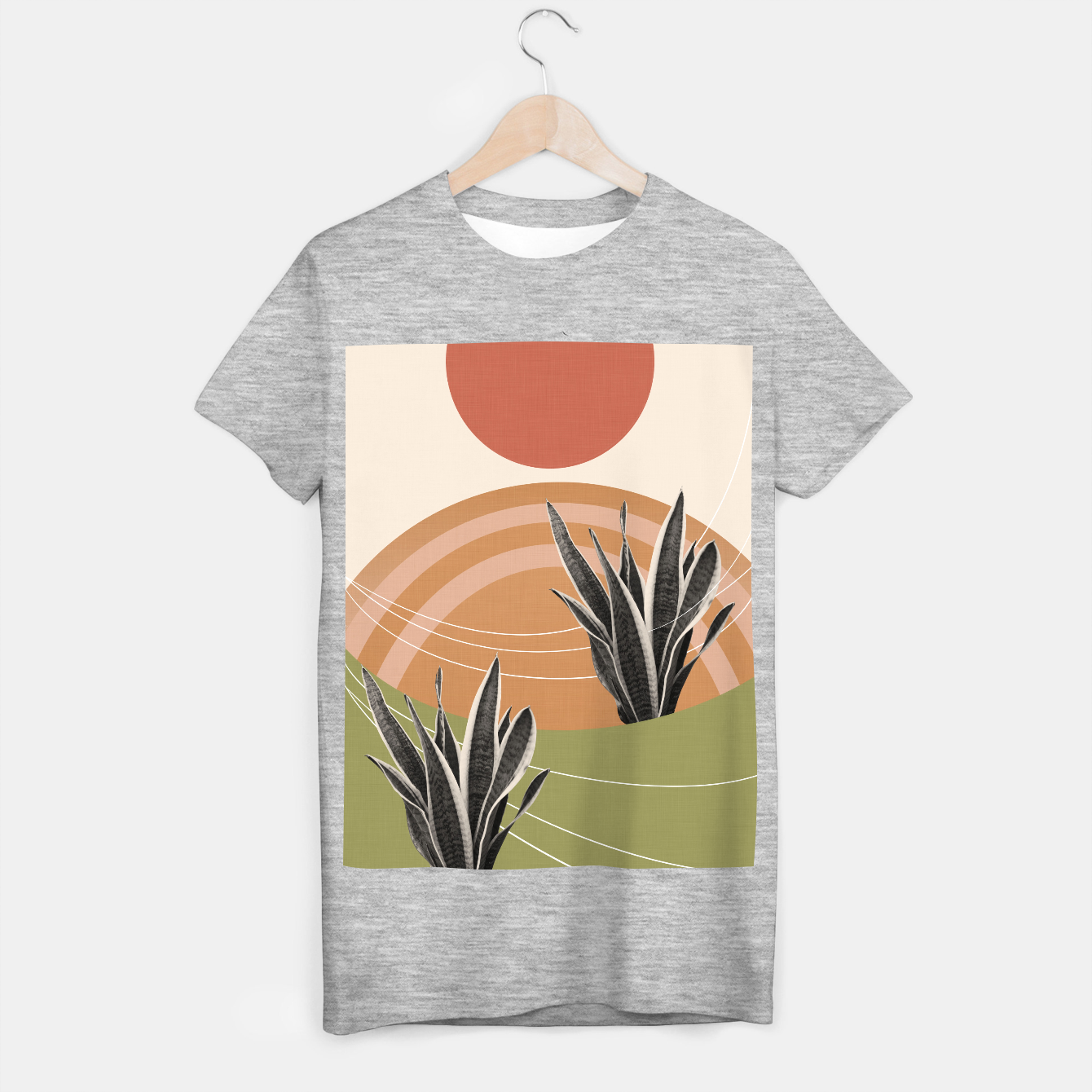 Image of Snake Plant in the Desert #1 #tropical #wall #art  T-Shirt regulär - Live Heroes