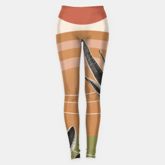 Snake Plant in the Desert #1 #tropical #wall #art  Leggings thumbnail image