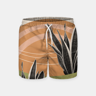 Thumbnail image of Snake Plant in the Desert #1 #tropical #wall #art  Badeshorts, Live Heroes