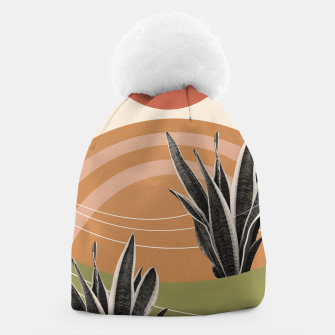 Thumbnail image of Snake Plant in the Desert #1 #tropical #wall #art  Mütze, Live Heroes