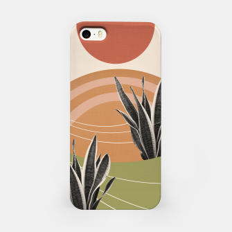 Thumbnail image of Snake Plant in the Desert #1 #tropical #wall #art  iPhone-Hülle, Live Heroes