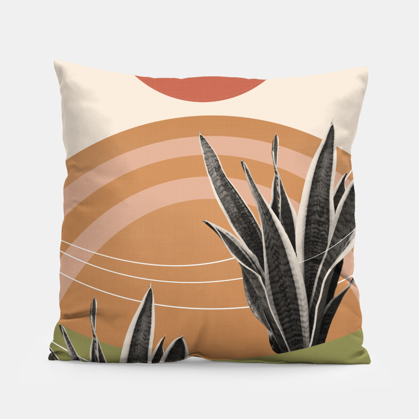Image of Snake Plant in the Desert #1 #tropical #wall #art  Kissen - Live Heroes