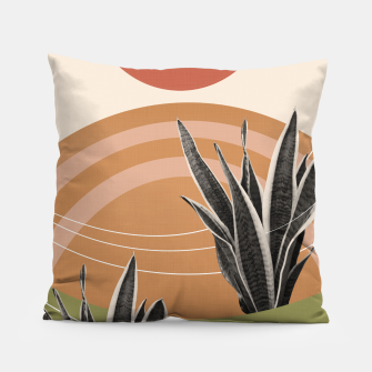 Thumbnail image of Snake Plant in the Desert #1 #tropical #wall #art  Kissen, Live Heroes