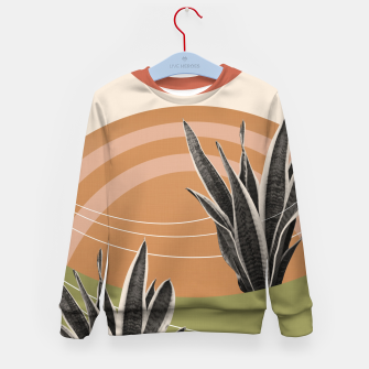 Thumbnail image of Snake Plant in the Desert #1 #tropical #wall #art  Kindersweatshirt, Live Heroes