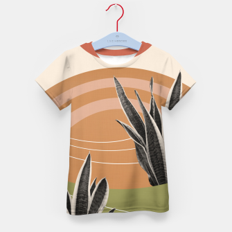 Thumbnail image of Snake Plant in the Desert #1 #tropical #wall #art  T-Shirt für kinder, Live Heroes